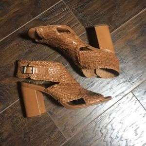 Halogen brown woven sandals size 6.5